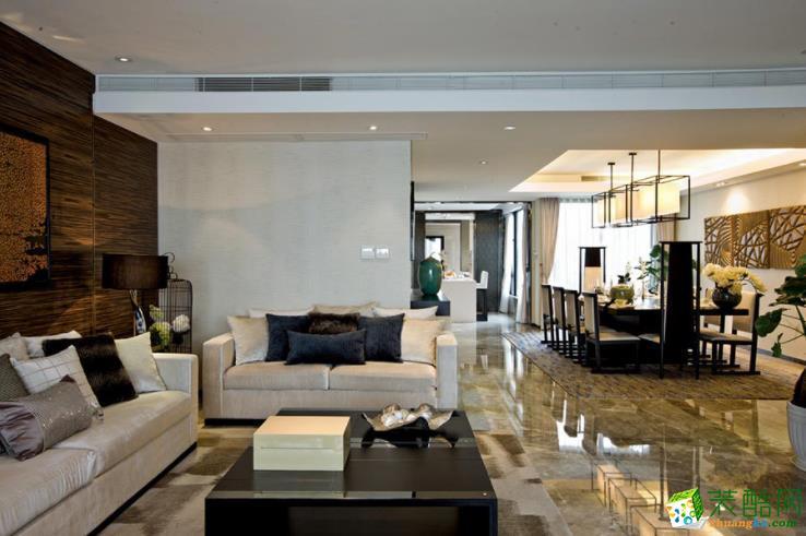 森景筑雅装饰-98㎡三室两厅东南亚装修风格效果图