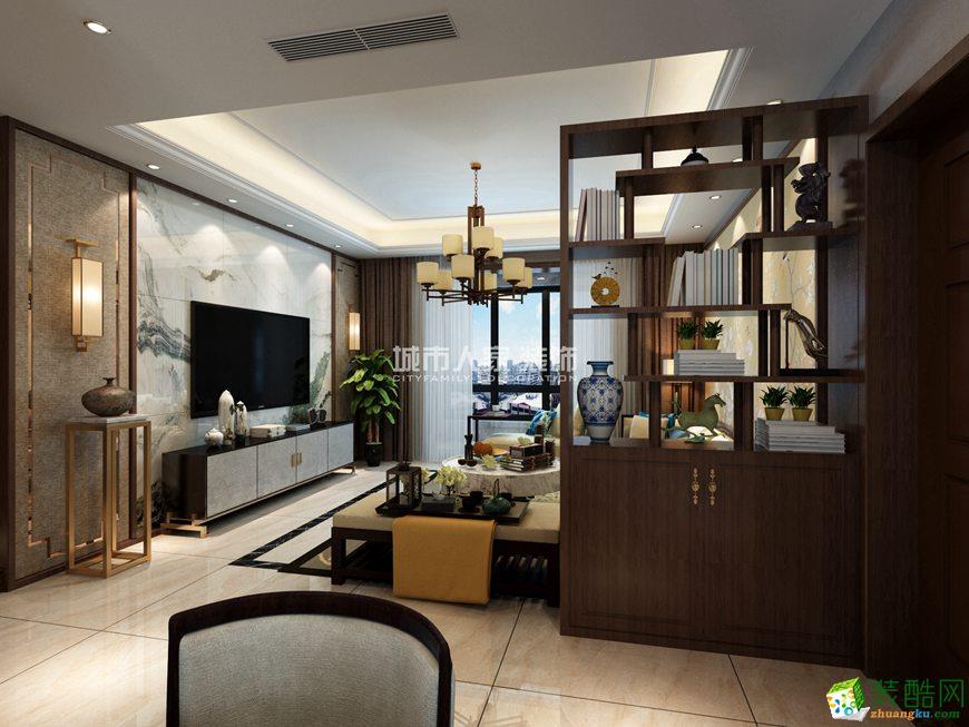 东方米兰国际城139平米新中式风格装修案例效果图