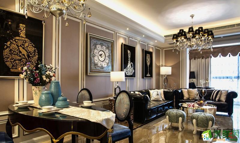 重庆二手房翻新-欧式风格80平米两居室装修案例图-速改家装饰