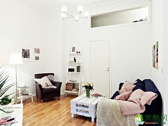 大连公寓装修-50平米一室一厅现代风格装修案例图-造居客装饰