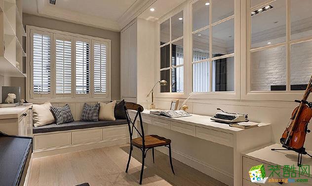 济南汇欣装饰-115平米美式三居室装修案例