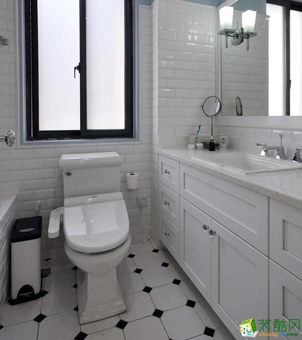 济南汇欣装饰-110平米美式三居室装修案例