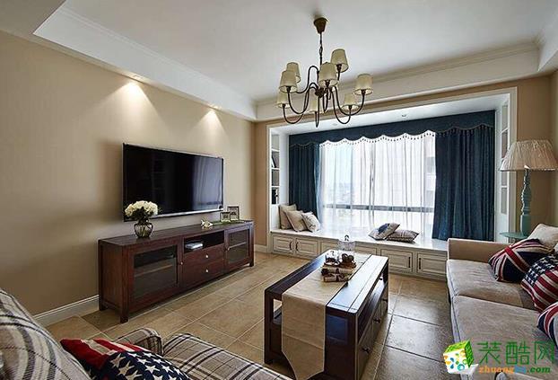 长沙谷居装饰-115平米美式三居室装修案例