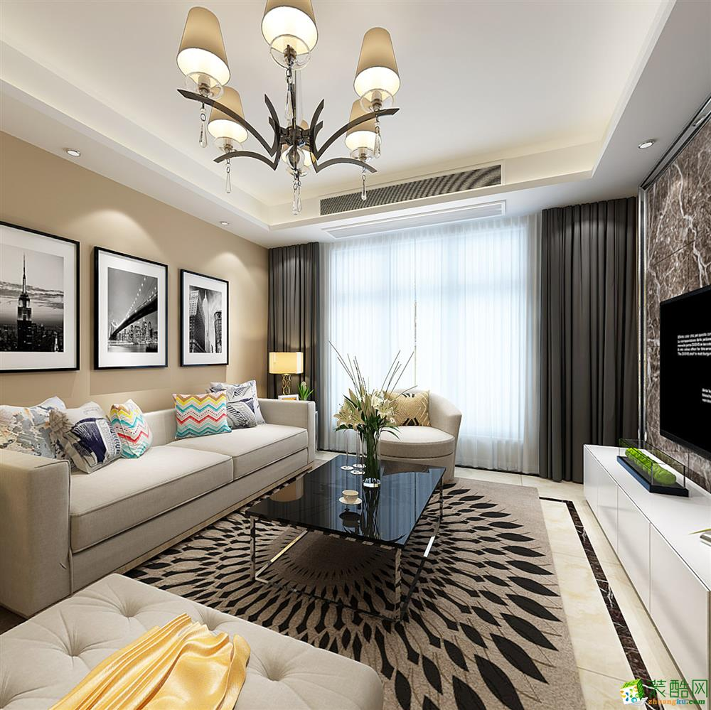 新桥家园-三居室-欧式风格