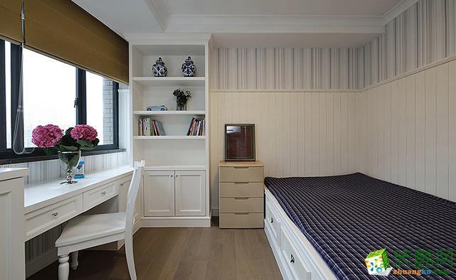 济南熙庭印象装饰-128平米美式三居室装修案例