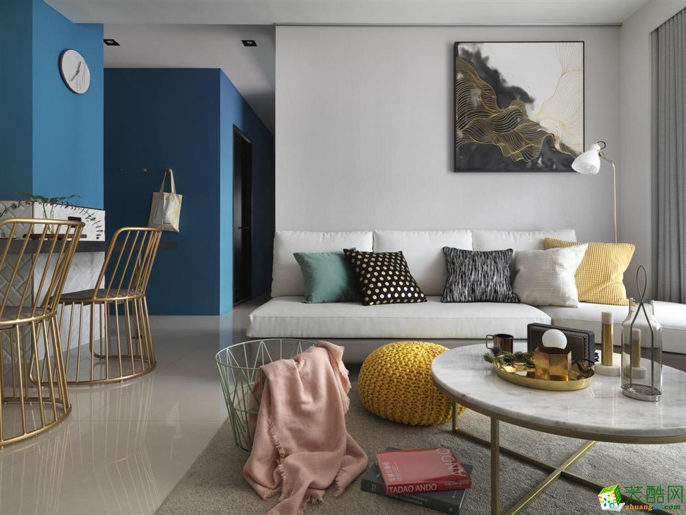武汉88平方 小两室的色彩搭配魅力
