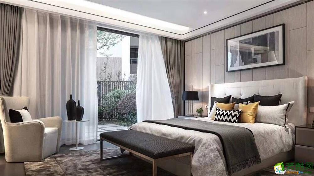 90平三居室现代简约风格效果图