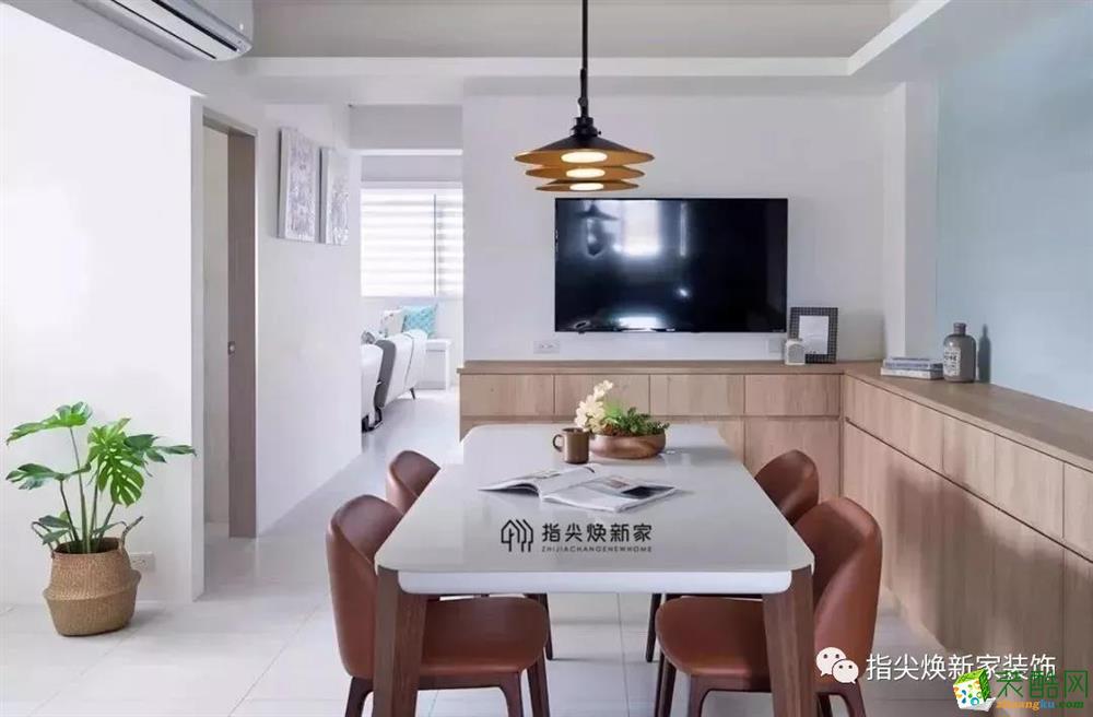 重庆旧房翻新-90平米三居室老房改造案例图-焕新家装饰