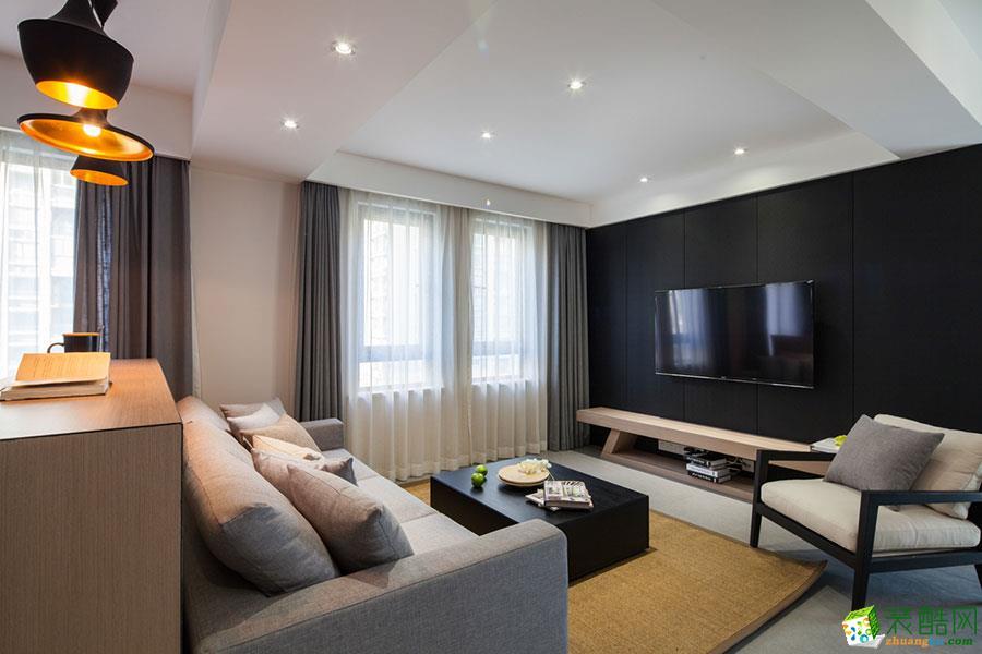 上饶三室两厅装修-100平米现代风格装修案例图-旺峰装饰