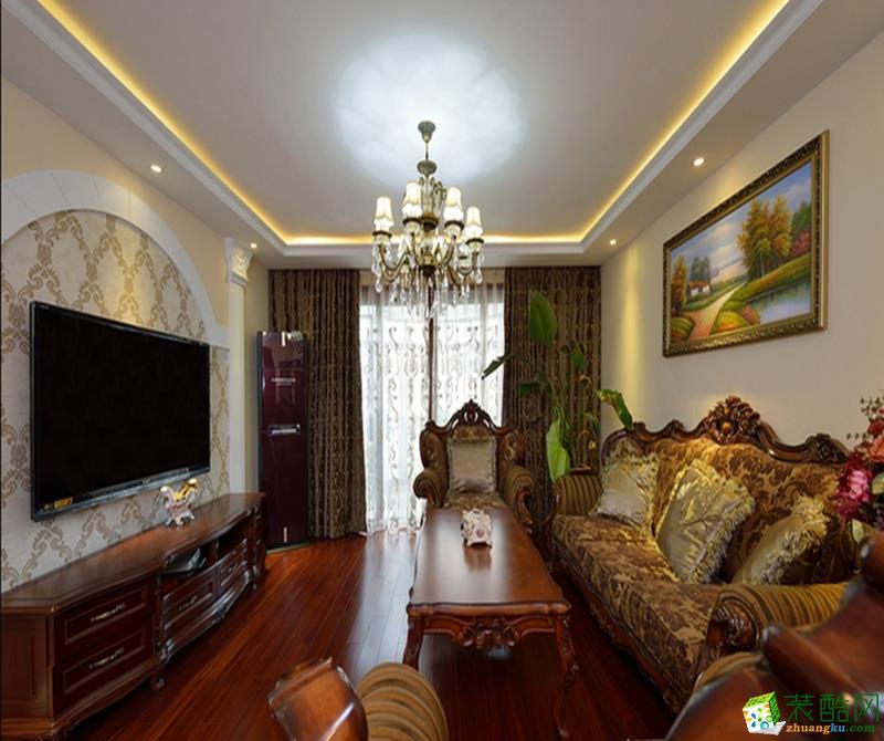 中式风格-四居室装修案例效果图
