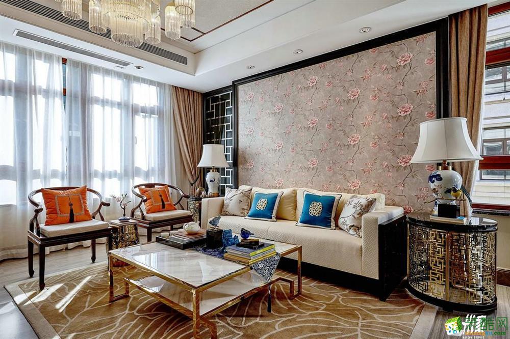 嘉禾新中式作品―135�O三室两厅两卫豪华装修