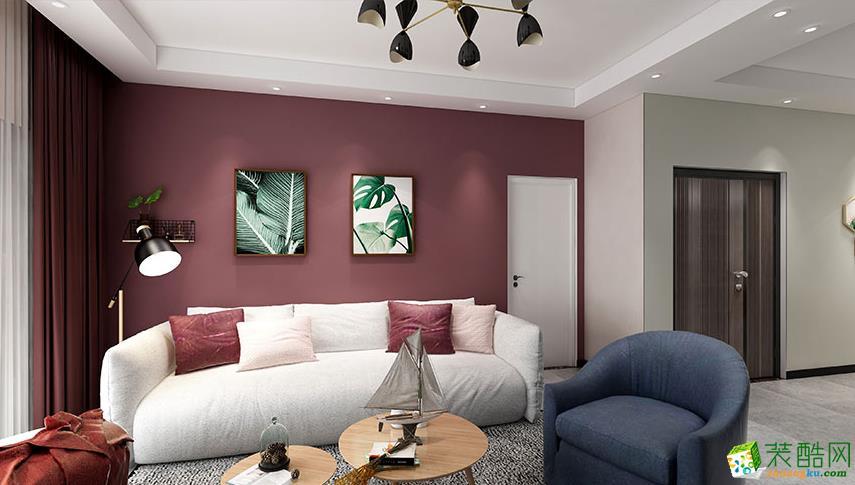 昆明海伦国际两室两厅装修效果图