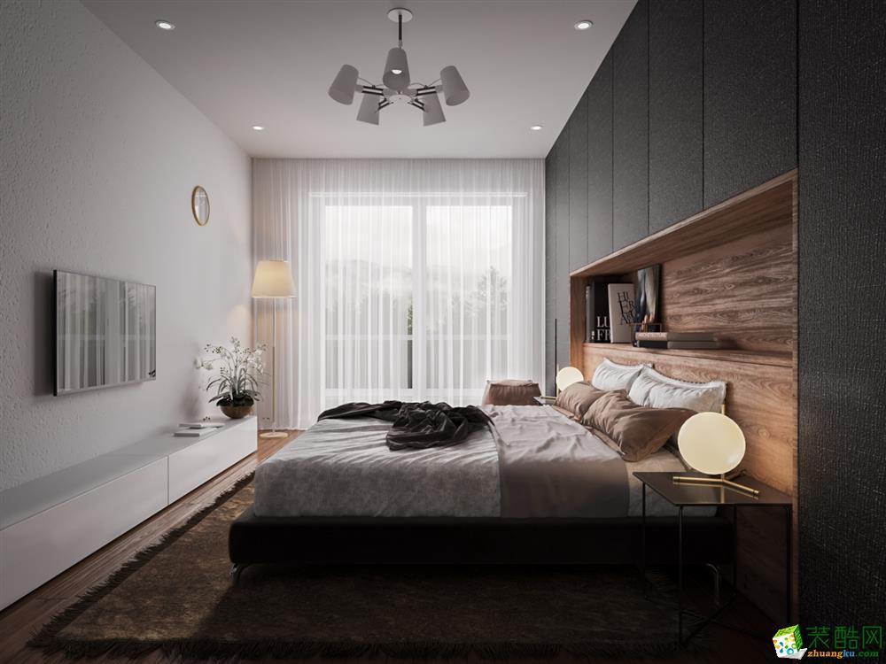 盛庭居装饰90平米三室一厅一卫现代简约风格装修效果图