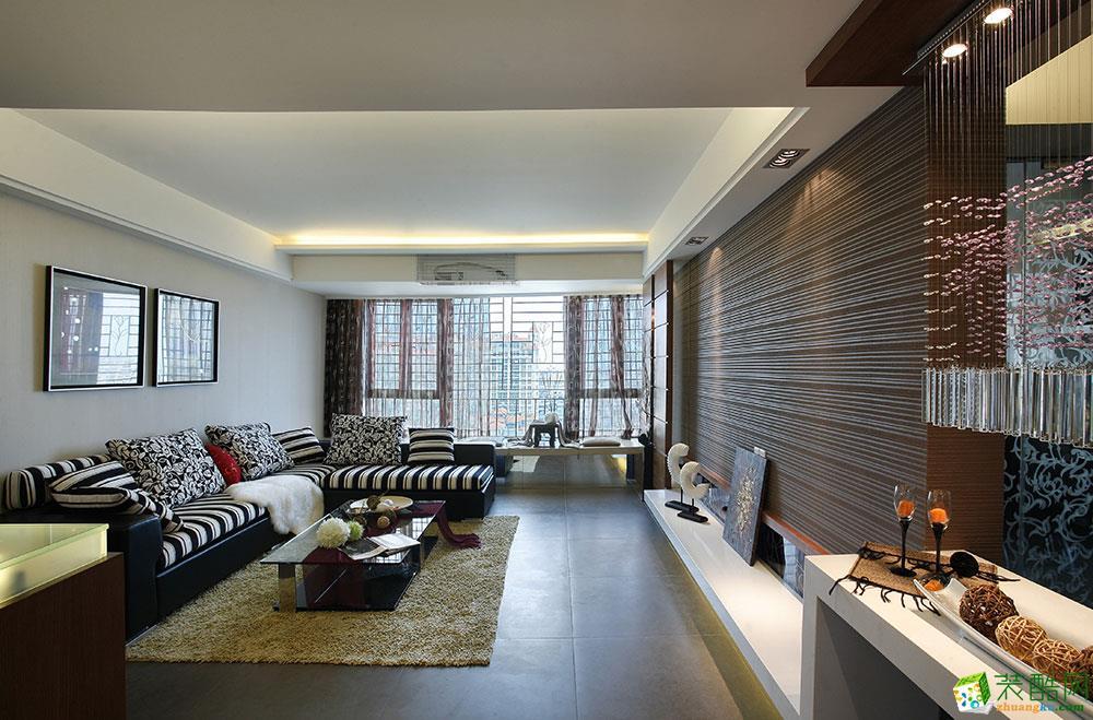 海口两室两厅装修-86平米现代风格装修案例图-成天艺装饰