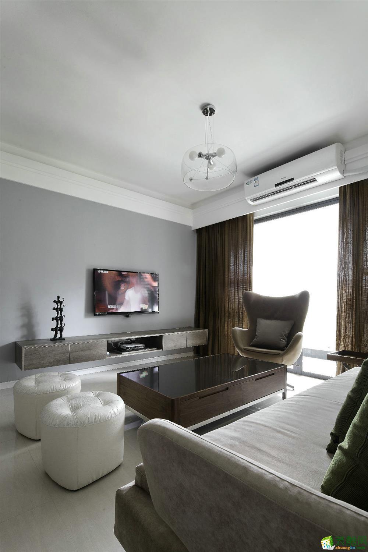 海口两室两厅装修-89平米现代简约风格装修案例-成天艺装饰