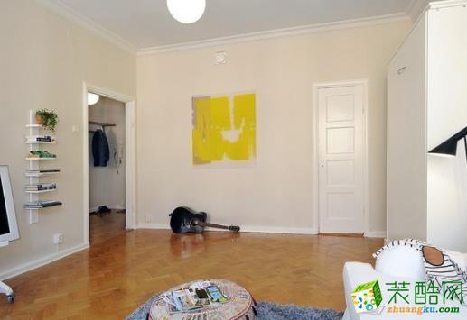宁夏金木匠装饰-44平米北欧一居室装修案例