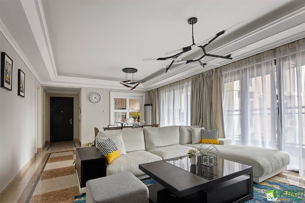 105三居室简约风格装修效果图