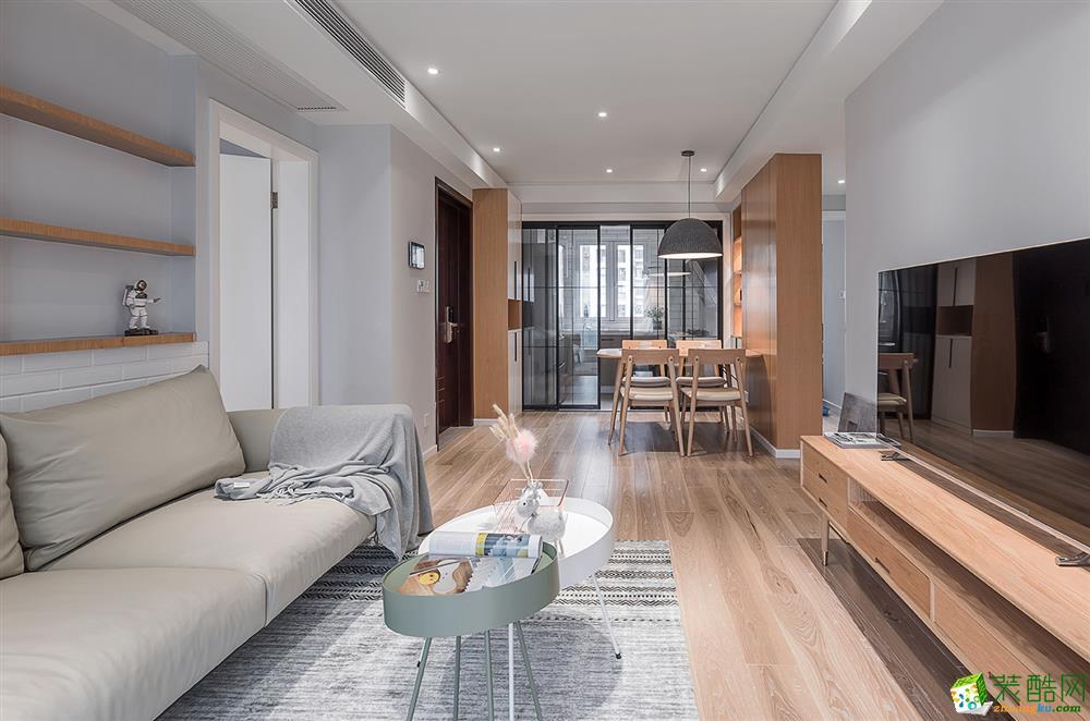 郑州91�O三室一厅一卫北欧风格装修效果图