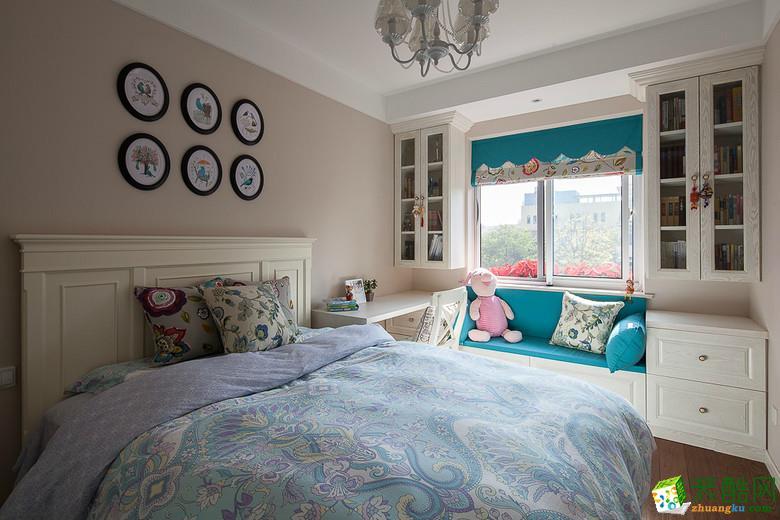 哈尔滨130�O三室两厅两卫美式乡村风格设计作品