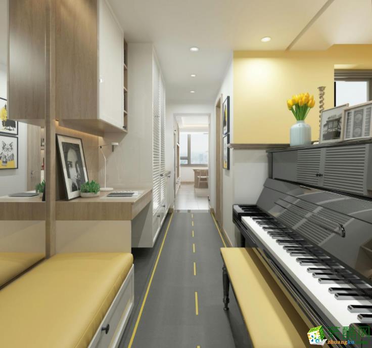 济南乐家网-110平米简约三居室装修案例
