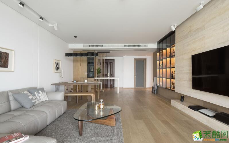 常州玺宝装饰-120平米3室日式风格装修效果图