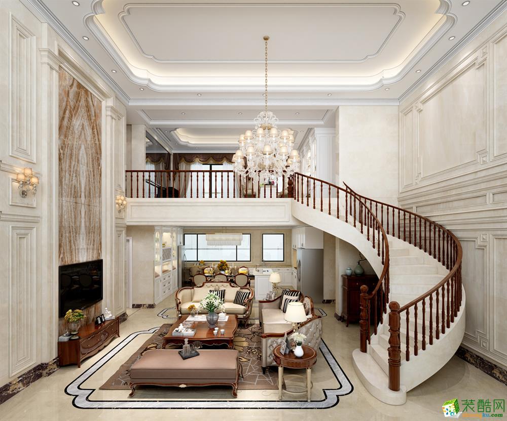 宜春南国鼎峰装饰-280平欧式装修效果图_欧式风格-跃层住宅