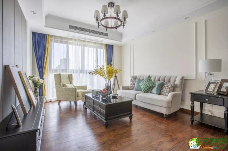 一诺装饰-美式风格-100平三居室装修案例