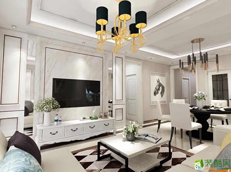 济南拓野装饰-128平米4室简约风格装修图