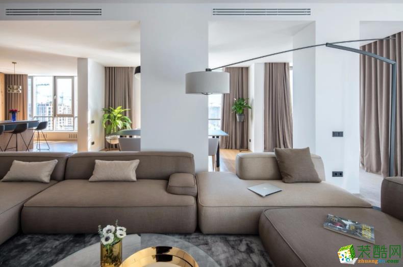 济南拓野装饰-93平米3室现代风格装修图