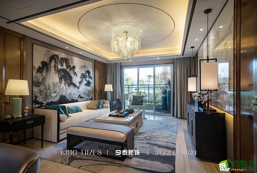 保利时代115平米中式风格三室设计作品