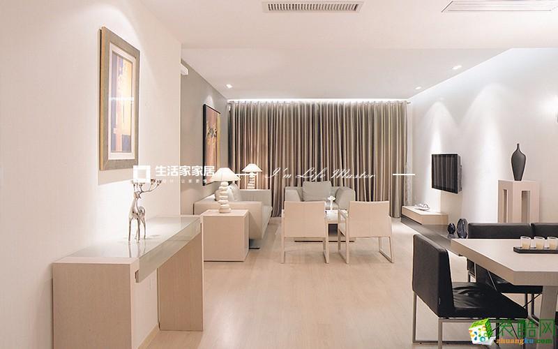 银湖翡翠120�O三室两厅现代风格设计效果图