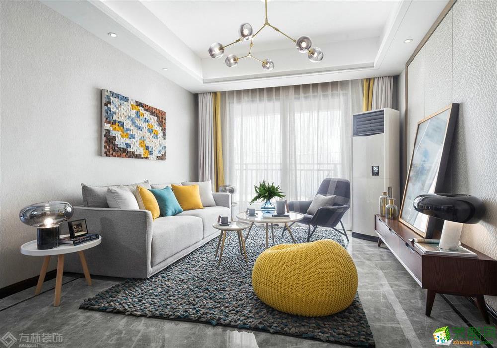 同馨花園96㎡輕奢風格兩室一廳裝修設計作品