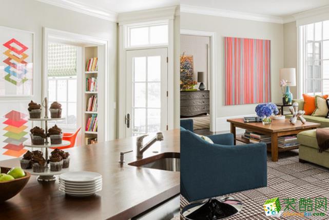 济南135平米装修-美式风格三居室装修效果图