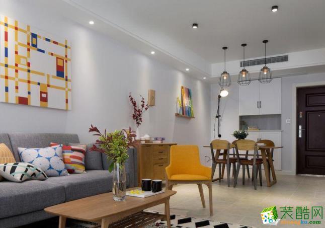 济南70平米装修-简约两居室装修效果图
