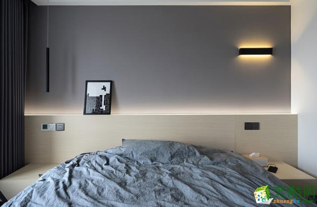 济南106平米装修-简约三室装修效果图