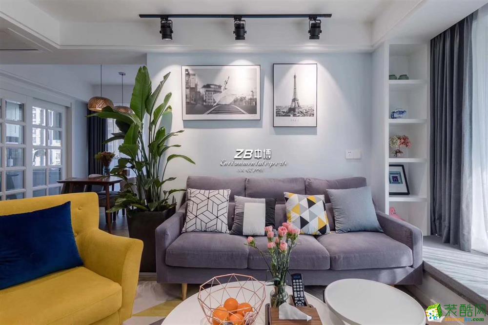 萬家名城120方現代混搭硬裝加軟裝十六件家具
