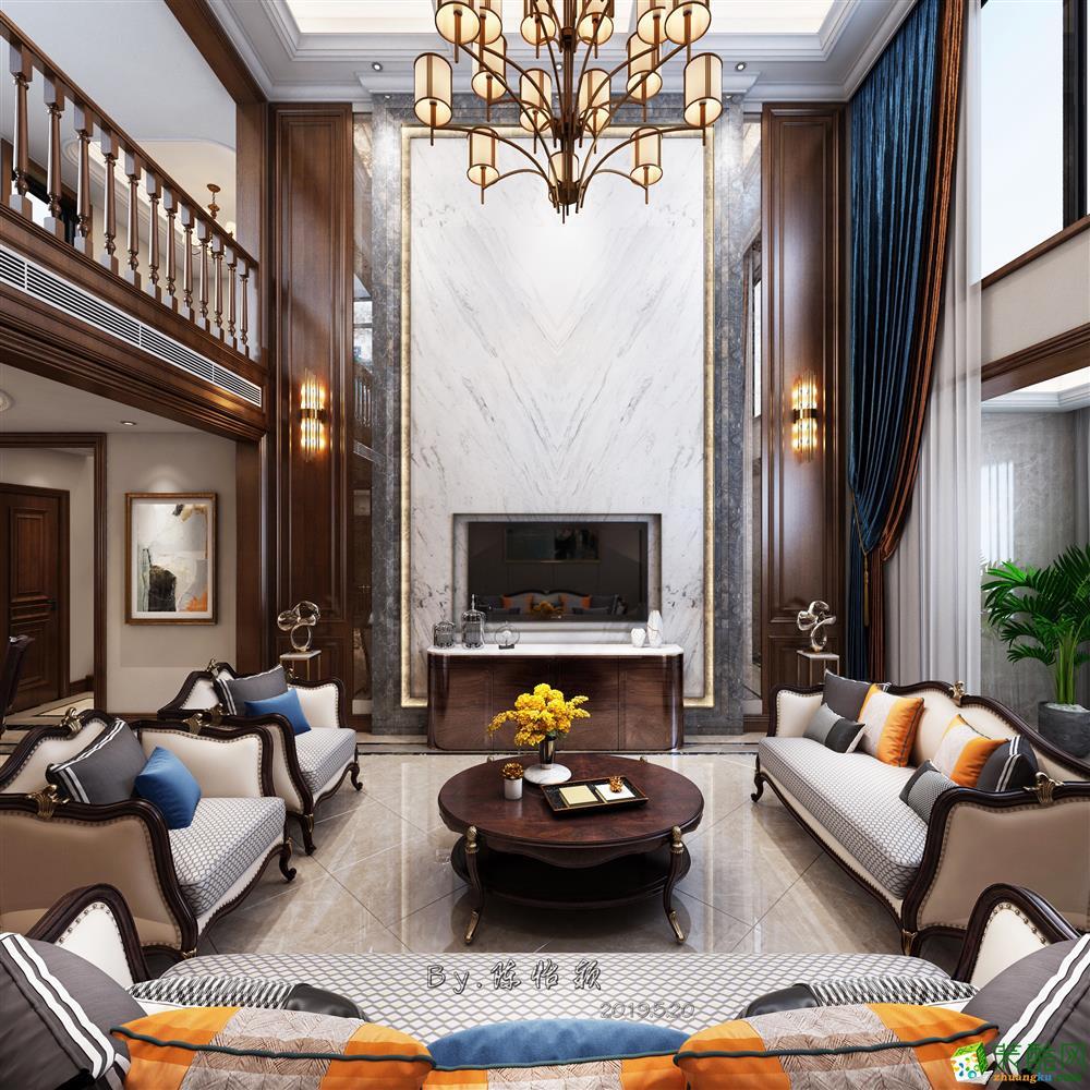 西安173平四室两厅两卫装修效果图