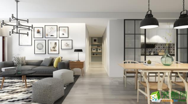 西安大象空间装饰-76平米现代简约两居室装修案例
