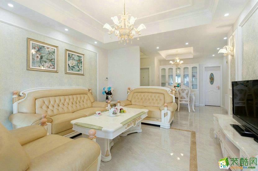 海口三室两厅装修-100平米欧式风格装修图-中宅装饰