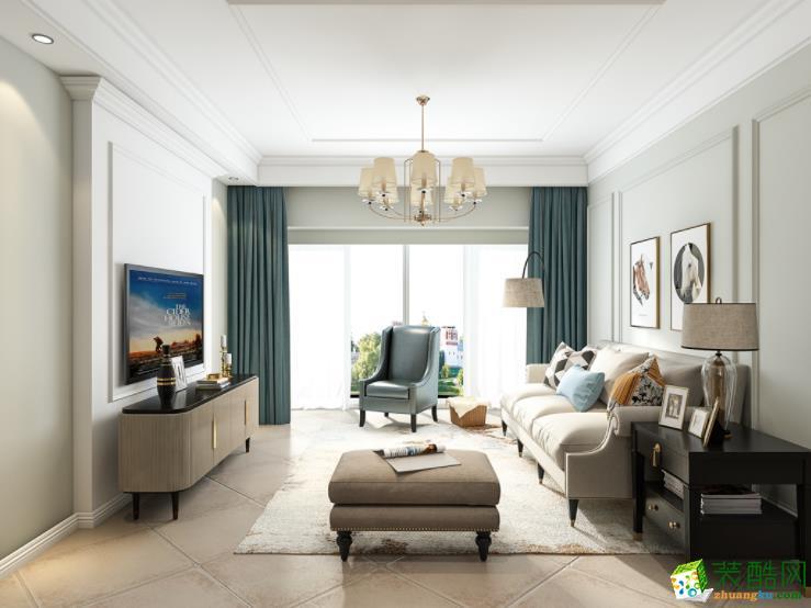 名家装饰-城市山林100平三居室简约美式装修案例