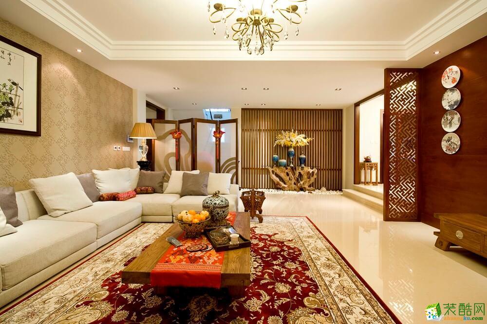 广安三室两厅装修-109平米东南亚风格装修案例图-梦之家装饰
