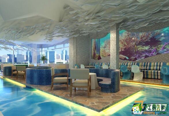西安海洋主题餐厅装修设计图