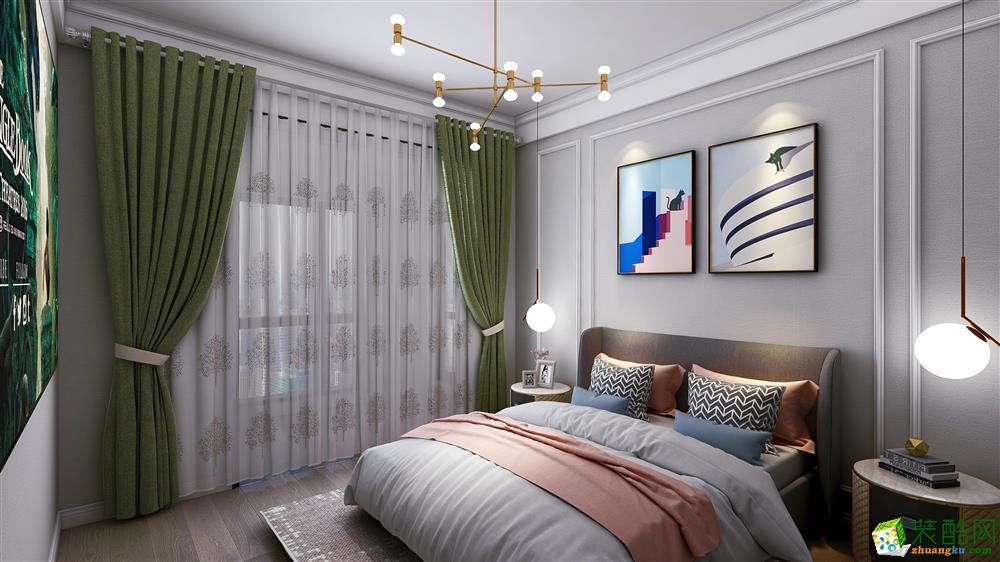 巴黎都市125�O三室两厅一卫现代风格设计作品