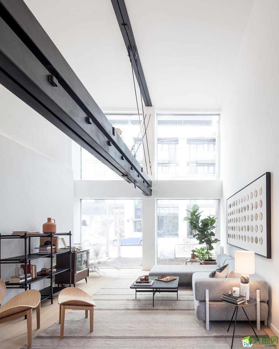 申远建筑设计-东方一品170平北欧风格装修效果图