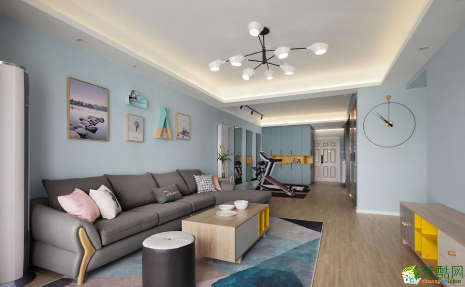 昆明金科江湖海135平三室两厅装修效果图