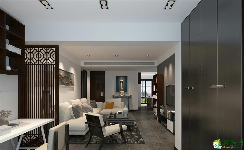 萬科九都薈-115㎡-現代簡約-三居室裝修效果圖