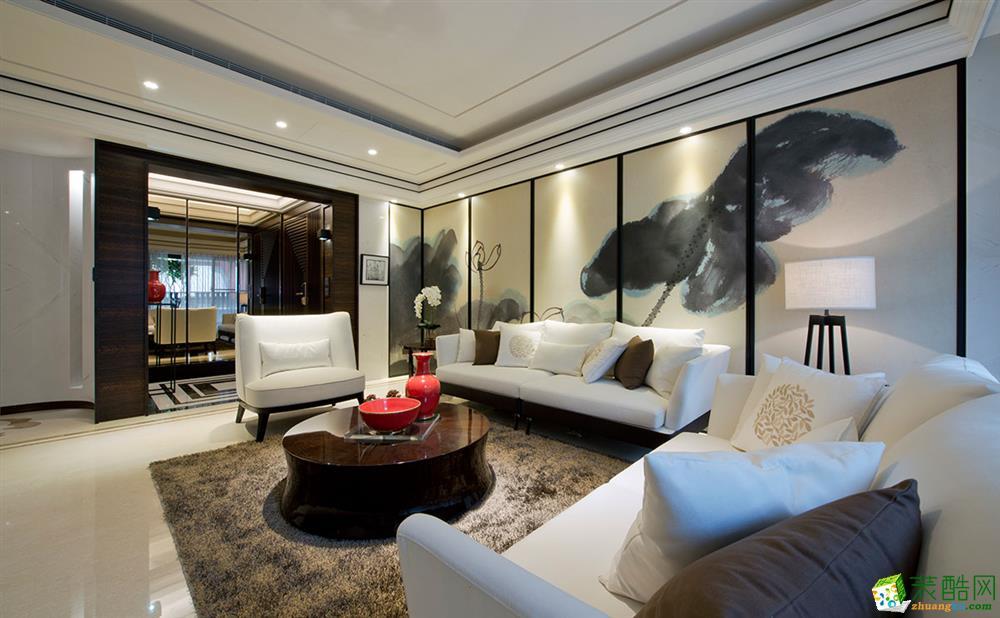 明发滨江新城-三室两厅一卫-120平装修效果图