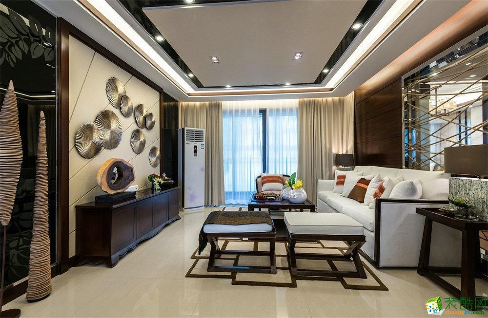 錦繡花園-120㎡-中式風格-三居室裝修效果圖