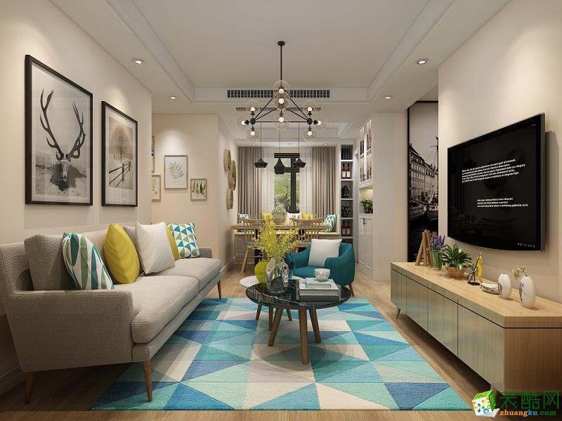 東方萬匯城-北歐風格-二居室-70㎡裝修效果圖