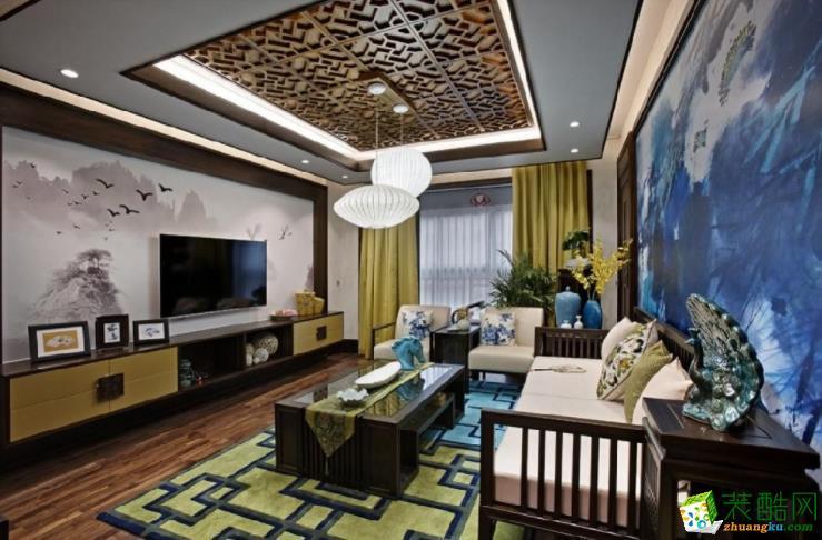 【交换空间装饰】103㎡新中式三居室装修案例